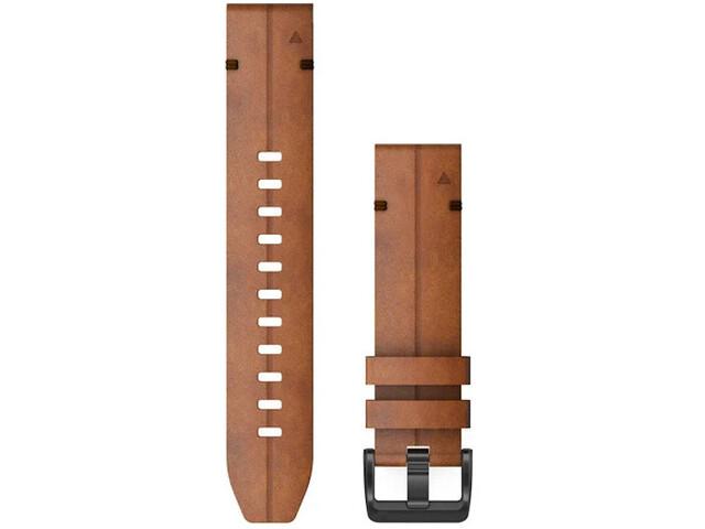 Garmin QuickFit Leder Uhrenband 22mm für Fenix 6 brown